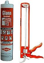 DOW CORNING Silicone 300ml Glass Glue Sealant with Caulking Gun Applicator