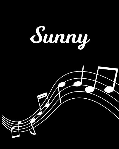 Sunny: Sheet Music Note Manuscript Notebook Paper – Personalized Custom First Name Initial S – Musician Composer Instrument Composition Book – 12 … Guide – Create Compose & Write Creative Songs