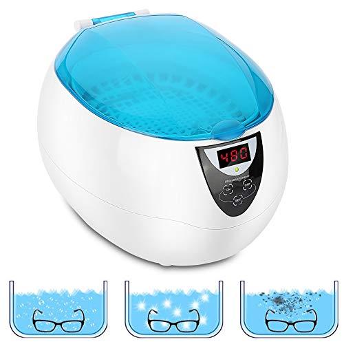 Pulitore ad Ultrasuoni, Lavatrice a ultrasuoni professionale Domestico 50W 750ml con 5 impostazioni di tempo per pulire occhiali, orologi, gioielli, verdura, frutta