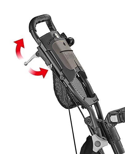 CaddyTek Quad Tour Swivel 360 4-Rad Golf Push Trolley - 6