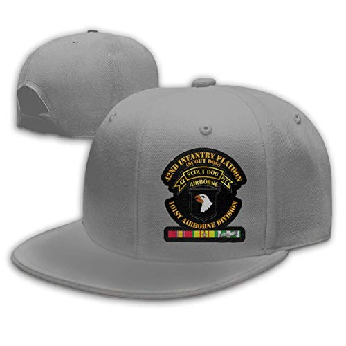 SOOPTY 42nd Infantry Platoon Scout Dog W VN SVC Adjustable Cotton Baseball Cap Gray
