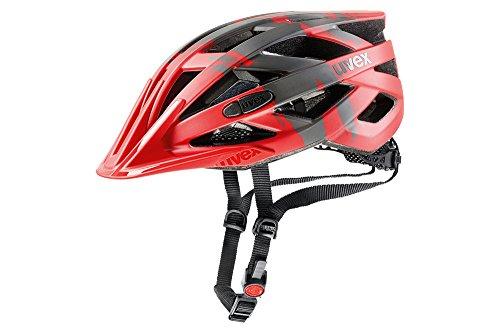 Uvex Erwachsene Fahrradhelm I-VO CC, rot (red darksilver mat), 52-57 cm