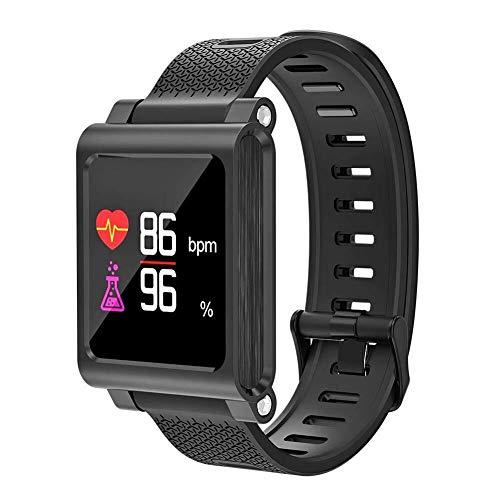 Simshew Fitness-Tracker Smartwatch Telefon Touchscreen Smart Watch Bluetooth Armbanduhr 696 K8 Smart Bracelet BT4.0 Pulsmesser Fitness Tracker (Schwarz) Herzfrequenz- und Schlafüberwachung