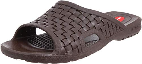 OKABASHI Men's Torino Sandals (Brown, XL) | Basket-Woven, Open-Toe Design | Nice Men's Sandals w/Arch Support