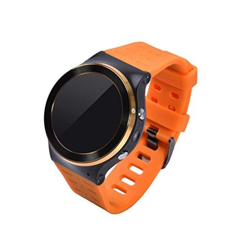 TPulling, smartwatch impermeabile, con GPS, Wi-Fi, Bluetooth, 8GB, tracker del sonno, GSM 3G, Quad-Core, Android 5.1, orange