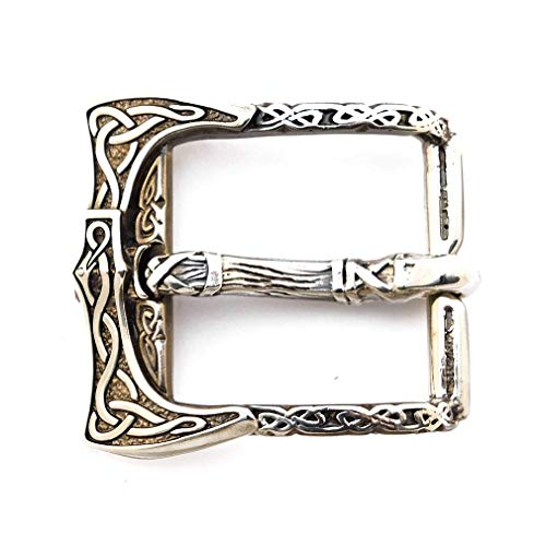 Belt buckle Viking Axe, Old norse scandinavian military solid german silver belt buckle with viking weapon axes