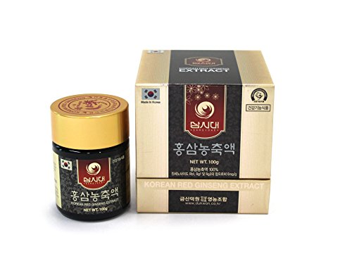 Ginseng Rojo Coreano Extracto 100g concentrado 100% natural - Curación de 3 meses - Alto contenido de saponinas 80mg/g - ginsenósidos Rg1, Rb1, Rg3  6 mg/g.