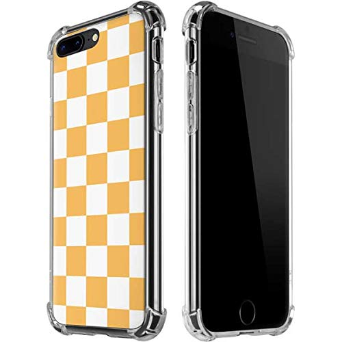 Skinit Clear Phone Case for iPhone 7/8 Plus - Officially Licensed Skinit Originally Designed Yellow and White Checkerboard Design