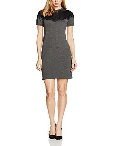 Cartoon Damen 8412/7415 Kleid, Grau (Dark Grey Melange 9711), 36 (Herstellergröße: S)