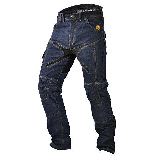 Trilobite Probut X-Factor - Pantalones Vaqueros para Motocicleta para Todo el año, Azul Oscuro, Talla 42 US