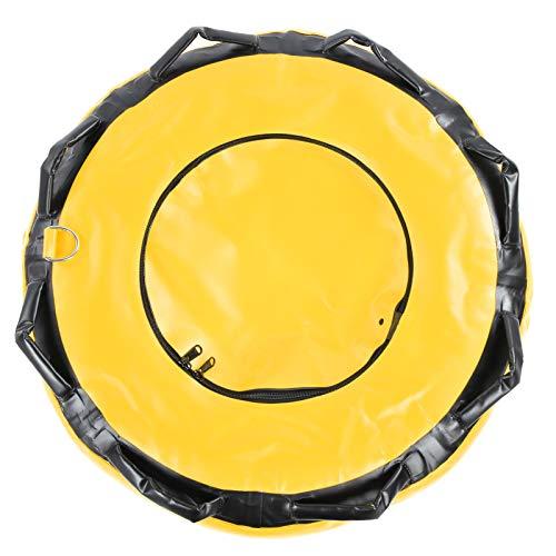 SALUTUYA 8 Asas ergonómicamente Suaves Boya de Buceo Libre Señal de flotabilidad Superficie de Alta Visibilidad, para Instructores, Buceo Libre, Buceo en la Playa, Snorkel, Pesca(Yellow)