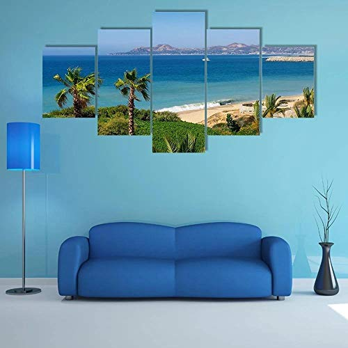 JJJKK Pictures Multi Panel Printed on Canvas, Beach and Coastline of Cabo san Lucas,Paintings,Wall Art for Living Room, Posters and Prints,with Wooden Frame Ready to Hang