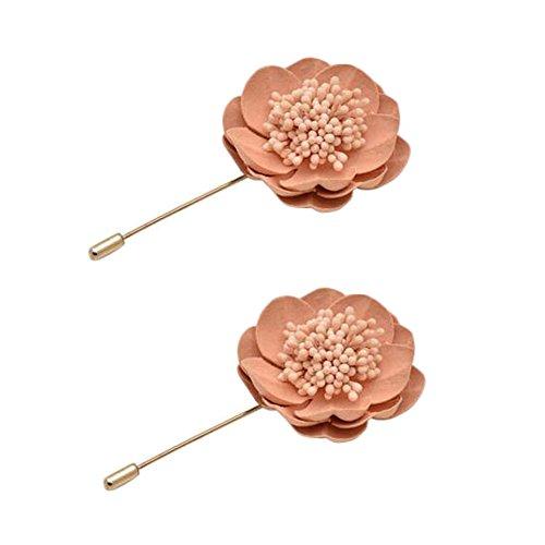 2PCS broches Broche Broches Broches élégantes décoration pour dames, Rose