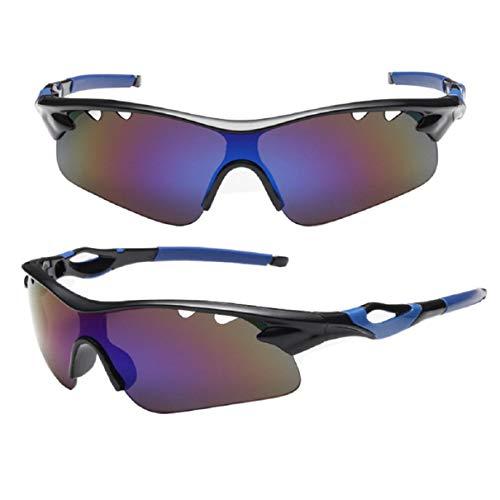 Vaycally Gafas deportivas para ciclismo Gafas deportivas, gafas profesionales para ciclismo con una hoja de prueba polarizada X, hombres y mujeres que conducen pesca Esquí Correr Golf Gafas de sol a prueba de explosiones