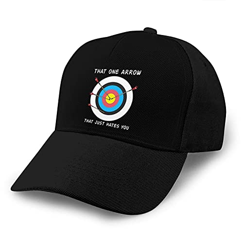 Gorra de Beisbol That One Arrow That Just Hates You Baseball Dad Cap Adjustable Airvent Cool Hat for Outdoor Activities Men Women Black