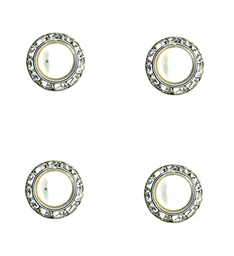 Horse jewelry magnetic contestant show number pins pearl center surrounded with Swarovski crystals Set of 4