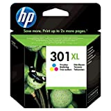 HP 301XL CH564EE Cartuccia Originale per Stampanti a Getto di Inchiostro, Compatibile con Stampanti DeskJet 1050, 2540 e 3050, HP OfficeJet 2620 e 4630, HP ENVY 4500 e 5530, Tricromia