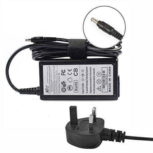KFD 19V 3.16A Laptop Charger for Samsung RV510 RV511 RV515 RV520 R530 RC512 RV520 R730 SF310 SF311 SF410 Samsung Series 3 NP300E5C NP300E5C-A02US NP300E5C-A03US 60W Power Supply UK Cord Cable
