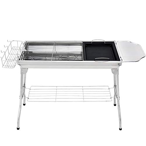 41Q8 9MsZTL. SL500  - YDHWT Bewegliche Faltbare Edelstahl Grill for Outdoor-Holzkohlegrill Grill Barbecue-Tools