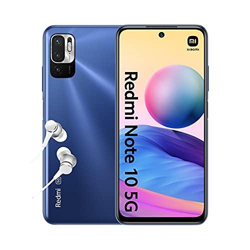 "Redmi Note 10 5G - Smartphone 4+64GB, 6.5"" Écran DotDisplay 90Hz AdaptiveSync, MediaTek Dimensity 700, Triple caméra, 5000mAh, Bleu crépuscule (Version Française + 2 Ans de Garantie)"
