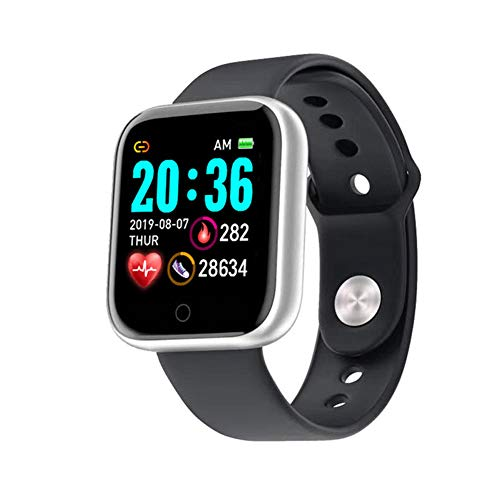 YANXS Smartwatch, Reloj Inteligente Impermeable IP68 para Hombre Mujer niños, Pulsera de Actividad Inteligente con Monitor de Sueño Contador de Caloría Pulsómetros Podómetro para Android iOS,Plata