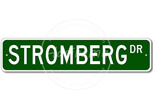 Hslly Stromberg Street Vintage Blechschilder Dekoration Vintage Metall Stil Schild Retro Aluminium Poster Für Cafe Bar Film Geschenk Hochzeit Geburtstag