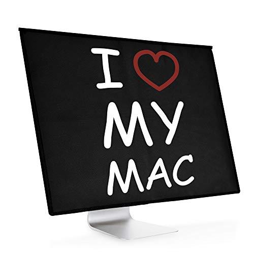 """kwmobile Custodia 4in1 Compatibile con Apple iMac 21.5\"""" - Fodero Monitor,Tastiera, Mouse e Cavi - I Love My Mac Bianco/Rosso/Nero"""
