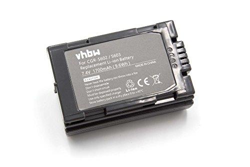 vhbw Batería Li-Ion 1200mAh (7.2V) para cámara Leica Digilux 1, Digilux 3...