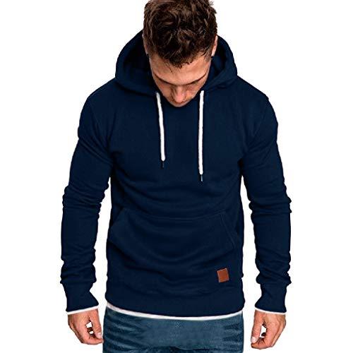 ITISME HOMME TOP Sweat-Shirt Ete Manche Longue Homme Sweat-Shirt à Capuche Décontracté Casual Survêtements Grande Taille Tops Outwear Blouse Sweat Chic