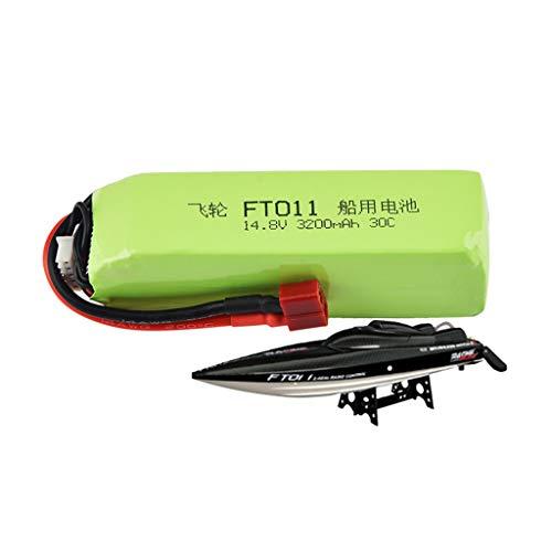 Luccase Grün Upgrade Boot Akku 14,8 V 3200 mAh 4S 30C Lipo Batterie Leicht Ersatzteil Kompatibel mit Feilun FT010 FT011 RC Boot