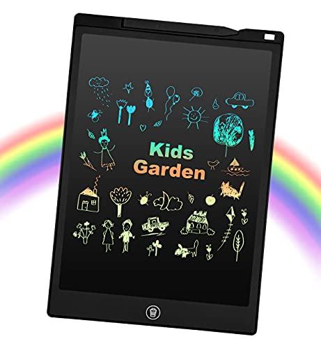 EooCoo 12 Zoll LCD Schreibtablett, Löschbare Elektronische Memoboard, Digitale Zeichenblock Doodle Board, Schreibtafel Buntes Display, Schwarz