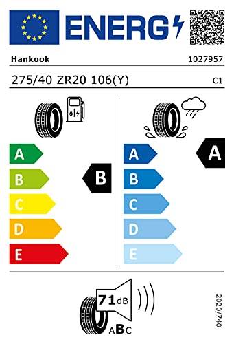 275/40ZR20 Hankook TL K129 ND0 XL 106Y *E*