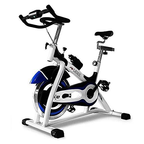 SAFGH Ciclismo de Interior Bicicleta estática con transmisión por Correa Bicicleta estacionaria con Monitor LCD y cómodo cojín de Asiento para Entrenamiento Cardiovascular en el hogar, Carga de 26