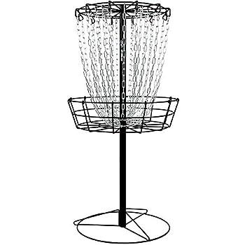MVP Black Hole Practice 24-Chain Portable Disc Golf Basket Target