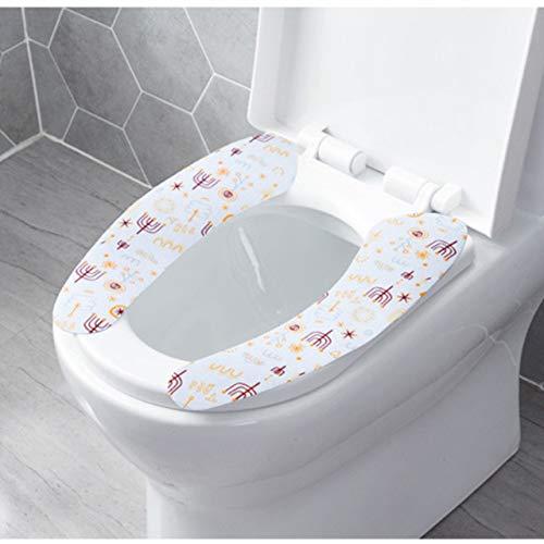 AGBFJY 1 paar wc-bril zacht plakken wc-bril wasbaar badkamer verwarming stoel cover closeet toilet plakkerig