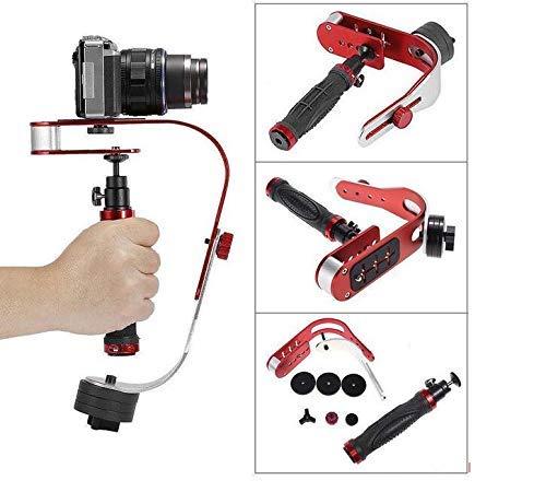 Taoric Camera Stabilizer Stetiger professioneller Handkamera-Stabilisator Maximale Belastung 2-5 kg für GoPro/Canon/Nikon/Videokamera/Digitale Spiegelreflexkamera/iPhone kompatibel (rot)
