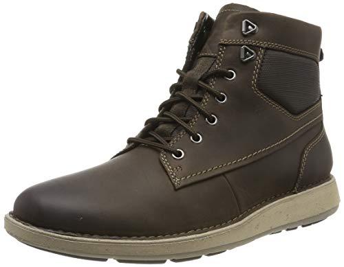 Clarks Herren Un Larvik Peak Klassische Stiefel, Braun (Brown Leather Brown Leather), 45 EU