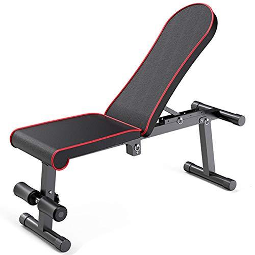 Banco de peso plegable para ejercicios de uso general, banco de entrenamiento plano/inclinación/declinación de banco para gimnasio en casa