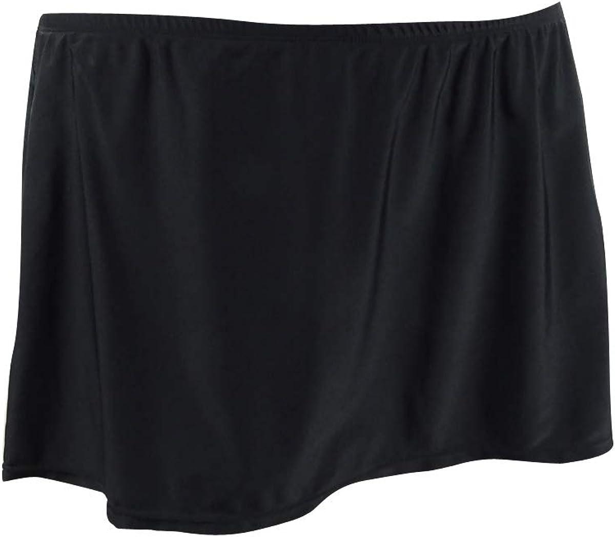 Island Escape Womens Plus Skirt Fold Over Swim Bottom Separates