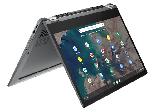 "Lenovo IdeaPad Flex 5 Chromebook Convertibile, Display 13.3"" Full HD Touch, Processore Intel Celeron 5205U, 64GB eMMC, 4GB RAM, Lenovo USI Pen, Chrome OS, Graphite Grey"