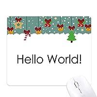 プログラマインタフェースのハローワールド ゲーム用スライドゴムのマウスパッドクリスマス