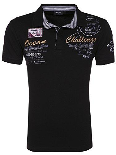 behype. Poloshirt Challenge T-Shirt 20-2728 Schwarz M