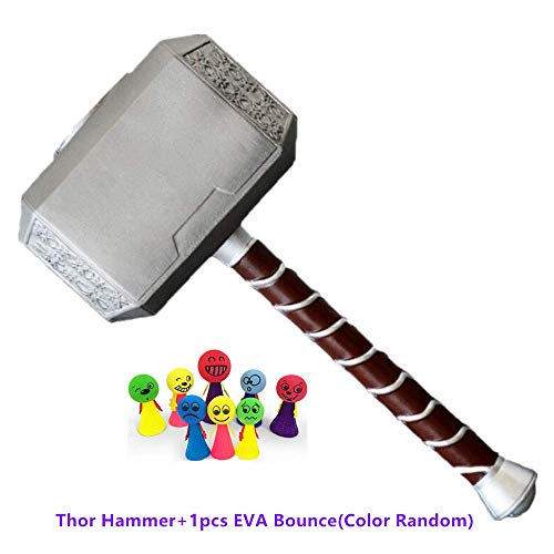 "Lonme 44cm Thor's Hammer PU Foam 17"" El Martillo de Thor Thunder Hammer Toy Collectors Cosplay Prop Fancy Dress Weapon"