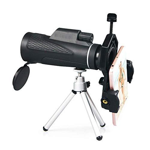 CESULIS Telescopio de alta definición telescopio monocular clásico alcance deportivo con soporte para teléfono y trípode para adultos al aire libre turismo viajes caza juegos