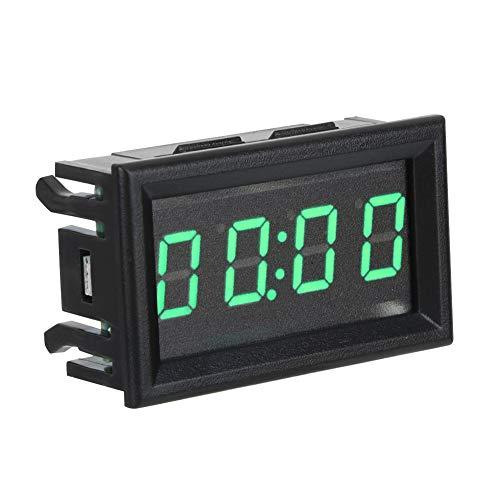 Auto Uhren, LED elektronische digitale leuchtende Auto Uhr Uhr Zubehör Dekoration(Green)
