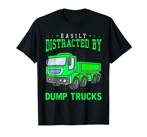 Camión basculante niños camión de construcción Camiseta