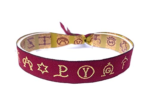 Pulsera de tela Taurina con logotipos de Ganaderías color morada
