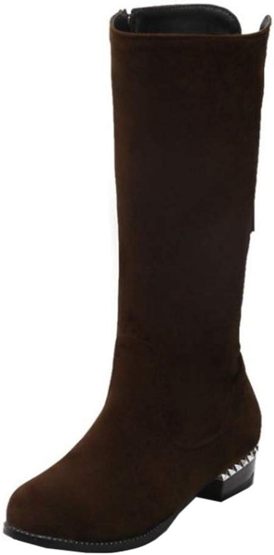 CuteFlats Women Knee-High Wedge Boots