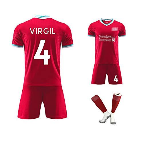 Hombres Fútbol Uniforme De Inglaterra con El Número 4 Mane Nº 10 Virgilio 20-21 Inicio Temporada Partido De Fútbol Traje Puede Ser Personalizado Número del Jugador Red No.4-26
