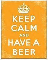 アメリカ雑貨 ブリキ看板 Keep Calm Beer キープカーム 店舗装飾 壁面ディスプレー サインプレート インテリア ガレージ ポスター ブリキ 看板 おしゃれ
